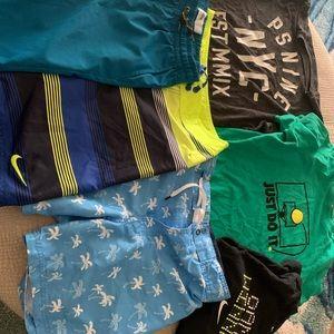 Boys shorts, swim and shirts